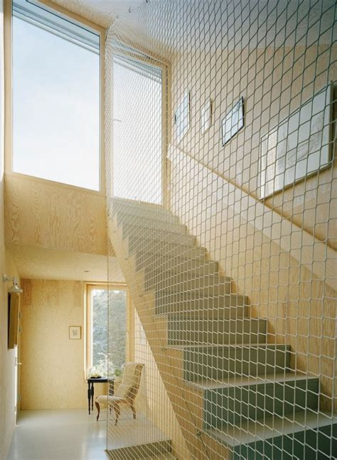 Safety Railing For Stairs The Safety Cargo Net Idea To Replace Traditional