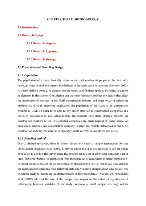 exle methodology research paper sle study methodology analysis and conclusion chapters