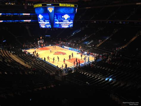 Nys Section 2 Basketball by Square Garden Section 201 New York Knicks