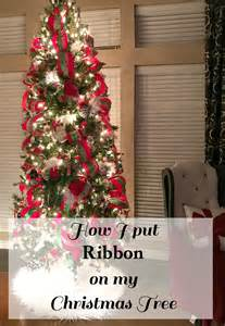 how i put ribbon on my christmas tree patina and paint