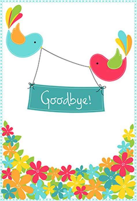 farewell card template free quot goodbye from your colleagues quot printable card customize