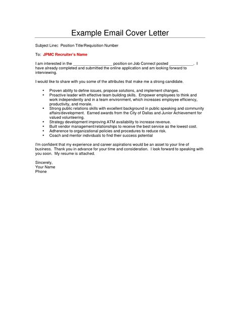 cover letter sle email the best letter sle
