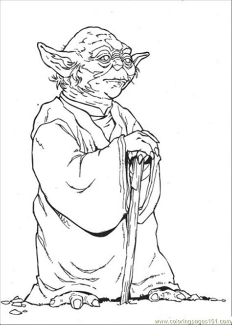 coloring pages master yoda 2 cartoons gt star wars free