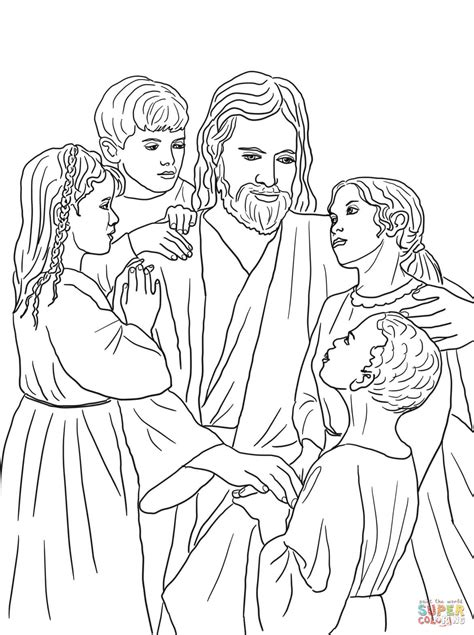 jesus coloring page pdf jesus loves all the children of the world coloring page