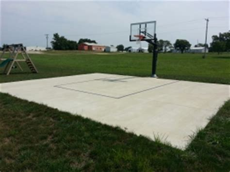 Backyard Concrete Patio Pictures Of Dedicated Basketball Court Concrete Slabs