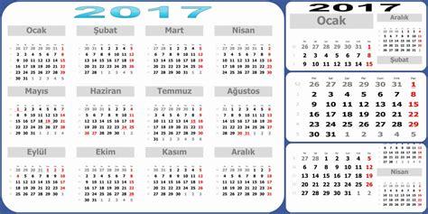 2018 Yili Takvimi 2017 Yili Takvimi