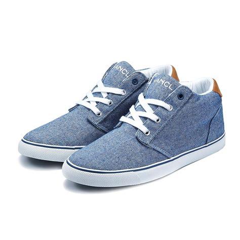 vancl farman low canvas shoes blue sku 186079