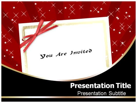 Invitation Powerpoint Templates Wedding Invitation Ppt Templates Free