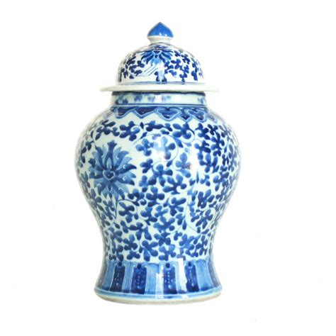 jar ginger blue and white ginger jar mintwood home