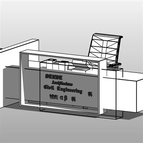revit reception desk reception desk revit family cad files dwg files plans