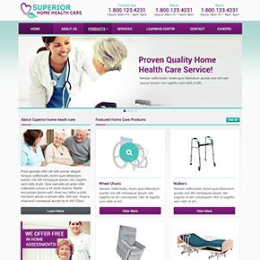 heathcare website exles