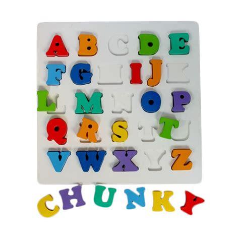 Mainan Edukasi Ebook Anak Belajar Huruf jual kidzntoys puzzle chunky huruf besar mainan edukasi anak harga kualitas terjamin