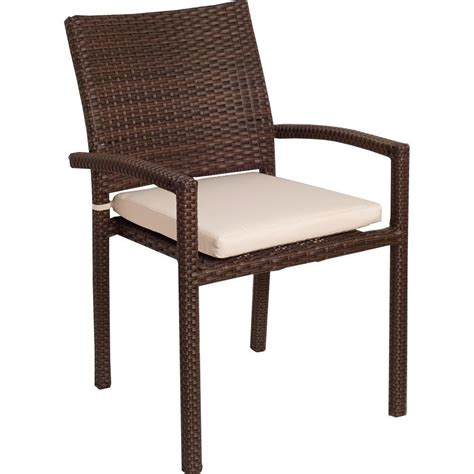 stackable wicker patio chairs atlantic liberty resin wicker stacking patio dining arm