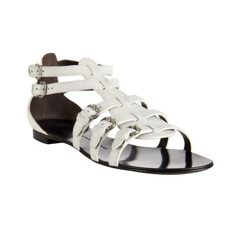 white giuseppe zanotti sandals giuseppe zanotti white leather buckle gladiator