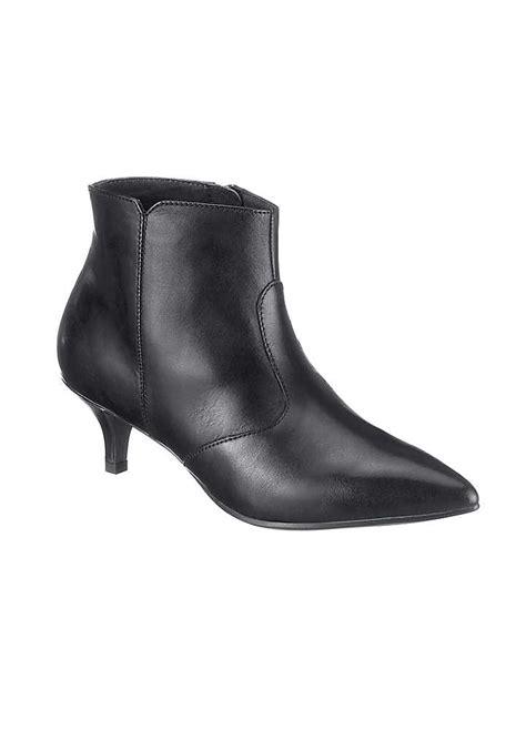 tamaris kitten heel ankle boots womens footwear