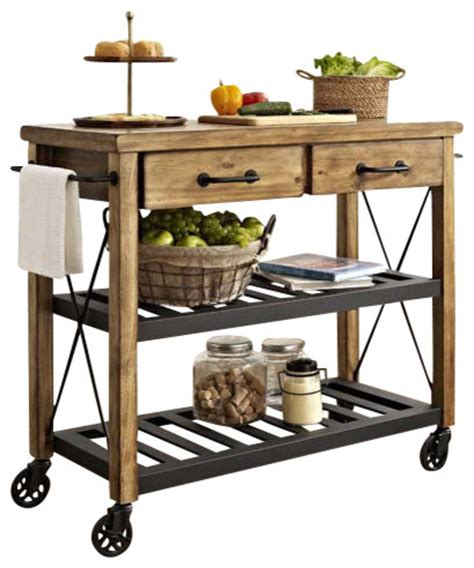 Kitchen Cart With Pot Rack roots rack industrial kitchen cart farmhouse kitchen islands and kitchen carts by pot