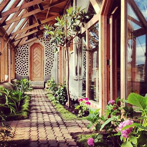 green house  front porch earthship home earthship