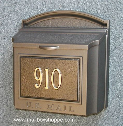 mailbox attached to house discount whitehall wall mount mailbox with custom sign