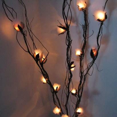 twig lights twig lights cotton flower