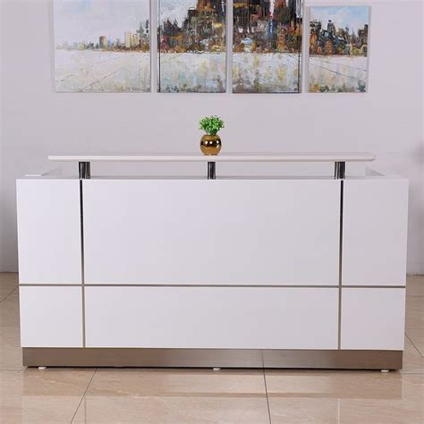 Commercial Reception Desks Glacier Half Reception Desk Cashier Desk Mercial Commercial Reception Desk