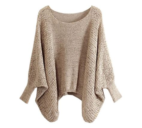 Batwing Sweater beige slouchy knit sweater with batwing sleeves on luulla