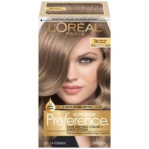 boxed hair color l oreal 7a cooler ash hair color 1 kt box