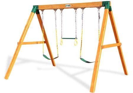 t frame swing set free standing swing free standing swing set by gorilla