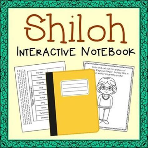 shiloh book report shiloh interactive notebook novel unit study activities
