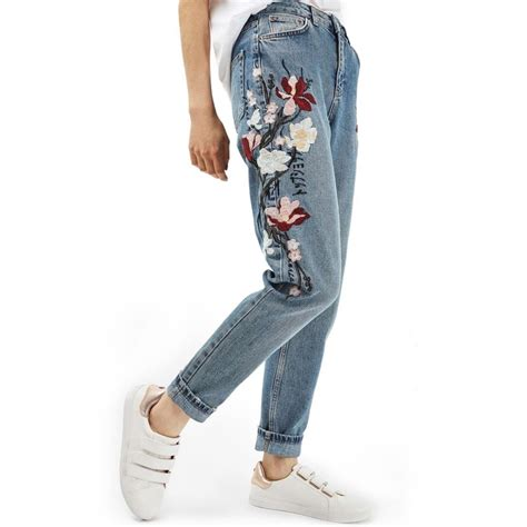 Denim Flow Set 2in1 topshop embroidered rank style