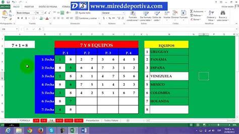Calendario 7 Equipos Todos Contra Todos 7 Equipos Dario Nieva