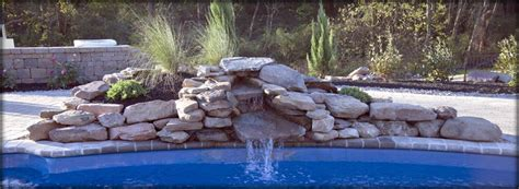 how to build a waterfall into a pool beautiful rock swimming pools modern diy art designs
