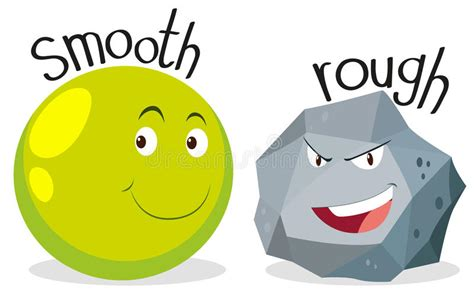 rough definition of rough by the free dictionary opposite adjectives smooth and rough stock vector
