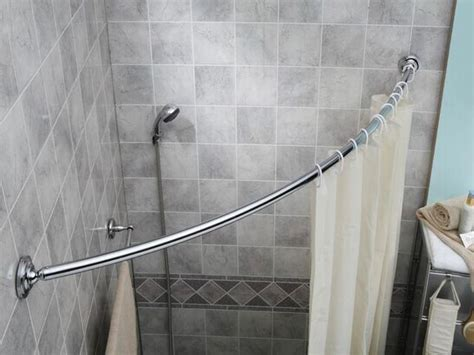 Bathroom Shower Rod Shower Curtain Rods Looks Clean And Modern Aka Curved Shower Rod Or Neo Angle