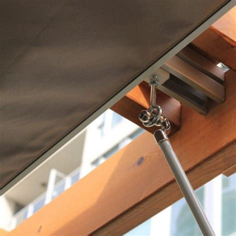 how to build a retractable awning 31 best slide wire canopy diy images on pinterest