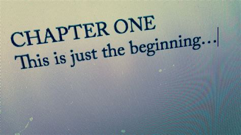 one chapter 1 chapter one justin mclachlan