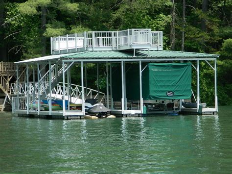 boat covers attached to dock wahoo docks and the touchless cover on lake blue ridge
