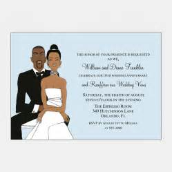 Customized Anniversary Gifts African American Wedding Couple Blue 5 X 7 Sweet Berry Lane
