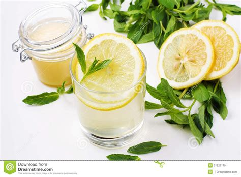 Lemon And Honey Detox by Detox Water With Honey Lemon And Mint Stock Image Image