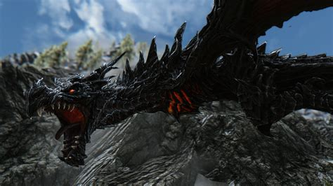 skyrim dragon armor retexture more dramatic alduin retexture at skyrim nexus mods and