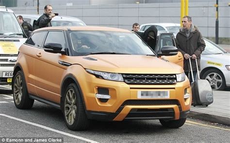 matte gold range rover balotelli strikes gold with new evoque