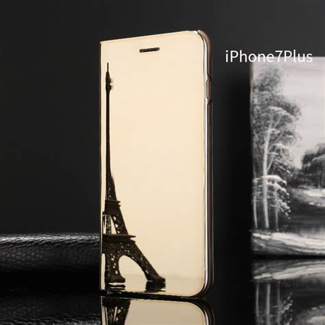 Mirror Flip Cover For Iphone luxury mirror view flip stand phone cover for