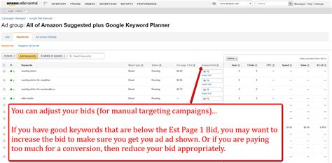 keyword bid pay per click optimizations for product caigns