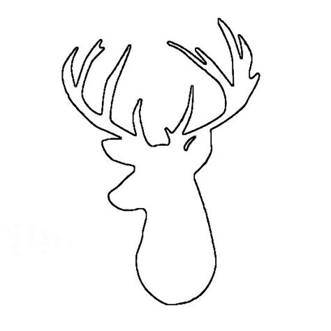 25 best ideas about deer head silhouette on pinterest