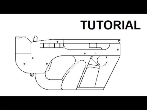 tutorial blowback rubber band smg youtube