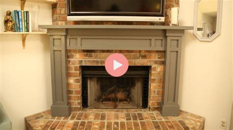 Easy Fireplace Mantel DIY   Checking In With Chelsea