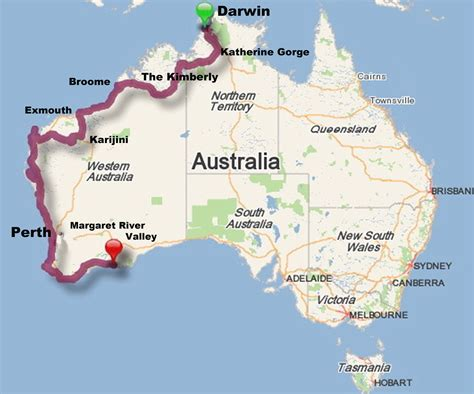map around australia and we re let the aussie road trip begin by the