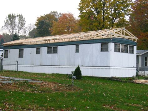 build a roof an existing mobile home roof modular