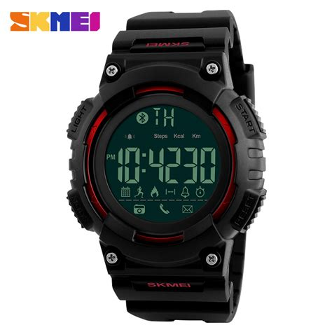 Jam Tangan Bluetooth Bracelet skmei jam tangan sporty smartwatch bluetooth 1256 jakartanotebook