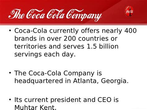 layout design of coca cola company coca cola india company presentation