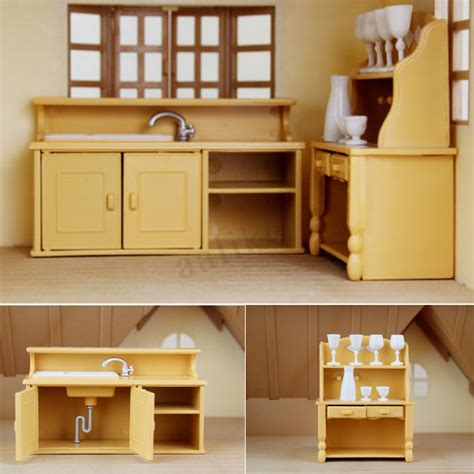 dolls house kitchen furniture dolls house kitchen living room bedroom miniature sofa furniture play toys ebay